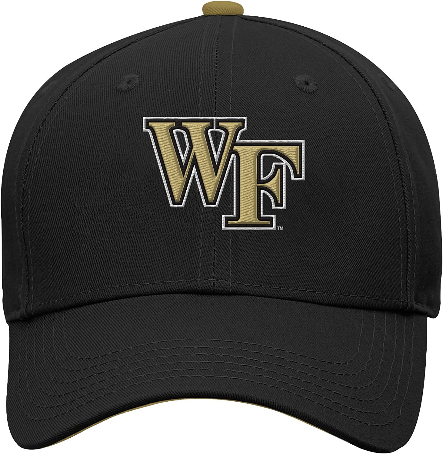 NCAA Wake Forest Demon Deacons Youth Boys Basic Structured Adjustable Hat, Youth Boys One Size, Black