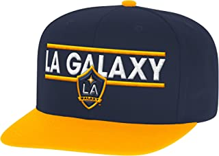 adidas MLS Los Angeles Galaxy Mens Dassler Flat Brim Snapback Hat, One Size, ...