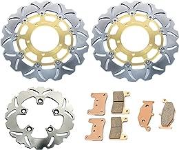 TARAZON Round Front Brake Discs Rotors for Suzuki GSXR 600 GSXR 750 2006 2007 GSXR1000 2005 2008 VZR 1800 Boulevard M109 R Intruder M1800 R2 2006-2015