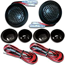 CT SOUNDS 1 Inch Car Audio Tweeters - 4 Ohm Impedance, Voice Coil Suspended in Ferrofluid, Flush Mount Silk Dome With Connecting Wires – Tropo 20mm Tweeters