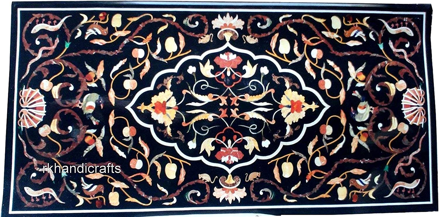 Semi Precious Stones Inlaid New Orleans Mall Dining Table Top Stone Art trust Ba Marble