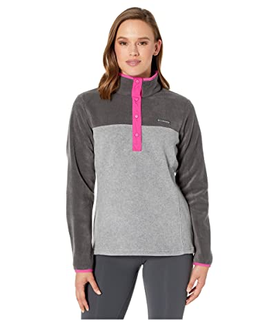 Columbia Benton Springstm 12 Snap Pullover (Light Grey Heather/Shark) Women