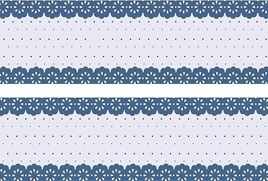 Frise bleue cercles en tant que Colle Frise et non-tiss/é Frise 260/x 15/cm
