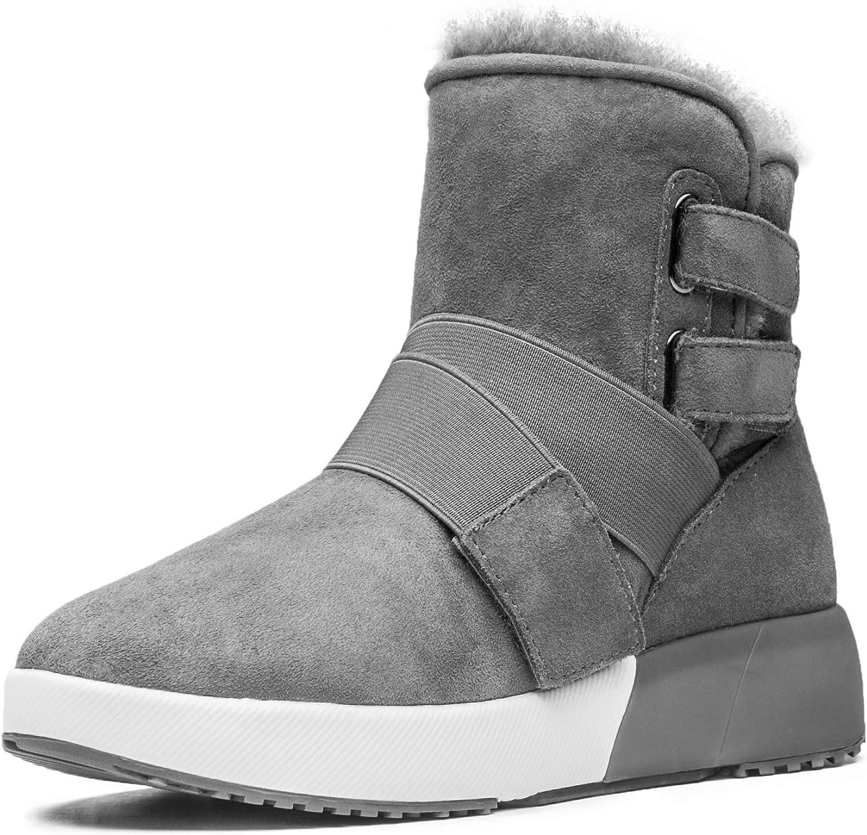 Aumu Cross Elastic Straps Taurus Series Suede Ankle Winter Snow Boots