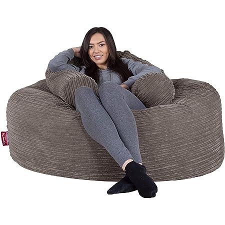Lounge Pug®, 'Mammoth' Sofa Sitzsack XXL, Riesen Sessle, Cord Schiefergrau
