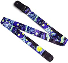 "Van Gogh""Starry Night"" Ukulele Strap & Leather Ends Shoulder Strap for.."