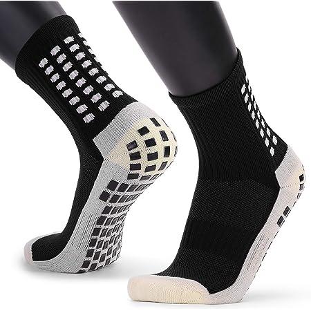 VCTINA Unisex Non Slip Sport Soccer Socks, Breathable Comfortable Athletic Football/Basketball/Hockey Sports Grip Socks with Rubber Dots for Men & Women