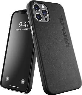 DIESEL iPhone12 Pro Max ケース プレミアム レザー 本革 牛革 フルラップ FW20 (ディーゼル iPhone 12 Pro Max, ブラック)