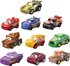 Disney and Pixar Cars Mini Racers Derby Racers Series 10-Pack, Small Metal Movie Vehicles for Competition and Story Play, ...