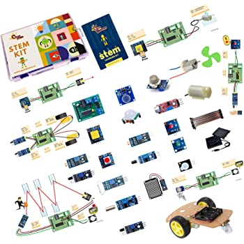 Quad Store(TM) - STEM based DIY learning activity educational electronics kit for science, robotics, school, college, hobby, projects