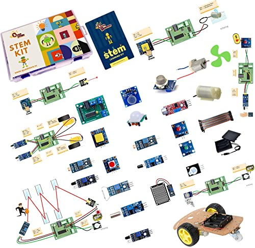 Quad Store STEM based DIY learning activity educational electronics kit for science, robotics, school, college, hobby...