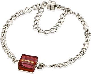 Alex and Ani Women's Crystal Lava Magnetic Bracelet, Rafaelian Silver