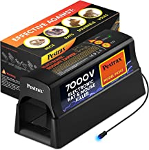 Electronic Rodent Zapper –Effective, Humane Exterminating Mice Killer Electric Mouse Trap – Electronic Rodent Rat Shock Trap – No Poison Electric Pest Control Rat, Squirrel, Mice Mouse Zapper Traps