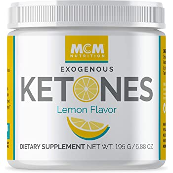 MCM Nutrition – Exogenous Ketones Supplement & BHB - Boosts Energy - Ketone Drink for Ketosis - Instant Keto Mix, Puts You into Ketosis Quick & Helps with The Keto Diet (Lemon Flavor - 15 Servings)