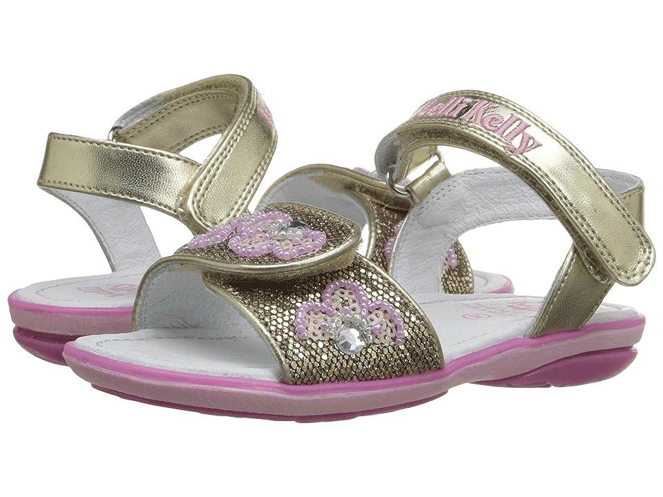 Lelli Kelly Kids Fiore Sandal (Toddler/Little Kid) (Gold Glitter) Girls Shoes