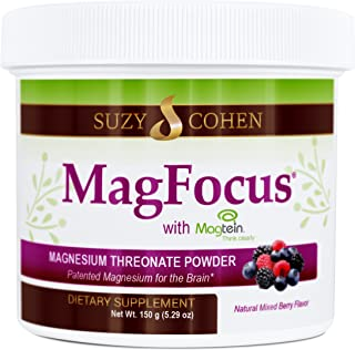MagFocus - Berry Flavored Magnesium Threonate Powder - 60 Servings - By Suzy Cohen, RPh.
