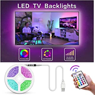 Bason TV LED Backlight, 13.09ft USB Led Lights Strip for TV/Monitor Backlight, Led Strip Light with Remote, TV Bias Lighting for Room Home Movie Decor.(60-70inch) …