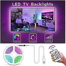 Bason TV LED Backlight, 13.09ft USB Led Lights Strip for TV/Monitor Backlight, Led Strip Light with Remote, TV Bias Lighting for Room Home Movie Decor.(60-70inch) …