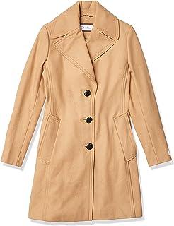 Calvin Klein Women's Single Breasted Spread Collar Wool Jacket