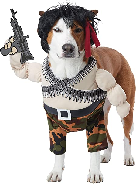 Action Hero Funny Dog Costumes For Pets