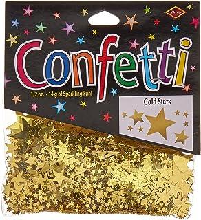 Beistle Gold Stars Confetti, 1/2-Ounce