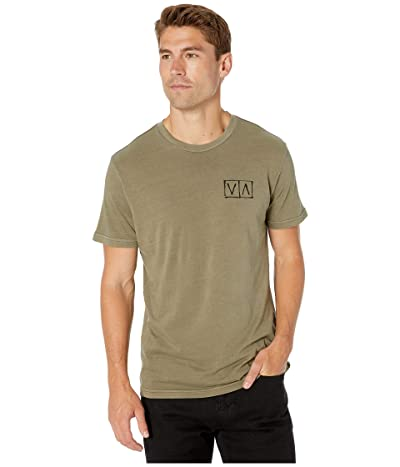 RVCA Horton Box T-Shirt (Olive) Men