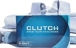 Clutch Men's Dryer Sheets, Fabric Softener for Men, 40 Count Box