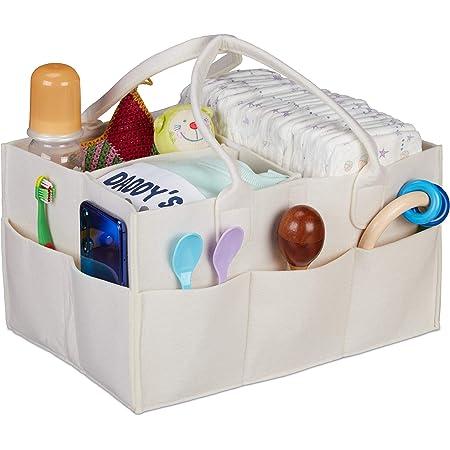 Windel L/ätzchen PER Babywindel Caddy Organizer Portable Storage Bin Gro/ße Kindergarten Tote Bag Filz Organizer Korb f/ür Wickeltisch Bei/ßringe