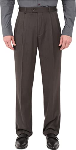 Classic Fit Double Pleat Micro-Melange Pant
