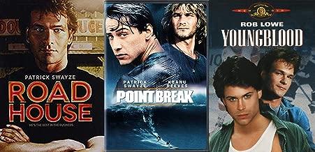 Surfers Bars Hockey Violence 80's Triple Feature Patrick Swayze Road House / Point Break & Youngblood DVD Triple Feature
