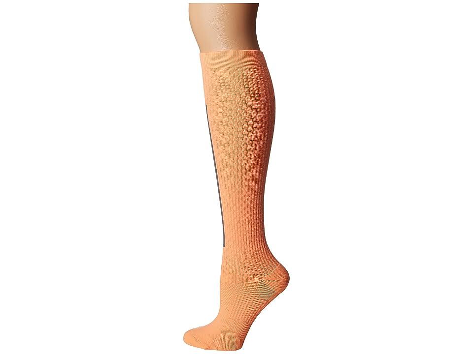 Nike High Intensity Over the Calf Training Socks (Peach Cream/Metallic Silver/Bright Mango) Women