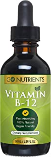 Sponsored Ad - Vitamin B12 Liquid Drops - Vegan Sublingual Supplement - Methylcobalamin 3000 mcg - Increase Energy, Enhanc...