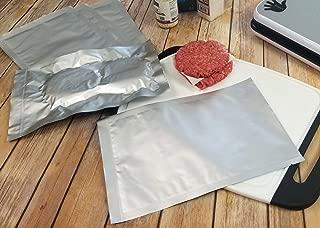 "(50) 8""x12"" Gen 2.0 Textured/Embossed Mylar Aluminum Foil Vacuum Sealer ChannAl Bags – Quart Size Hot Seal Commercial Grade Food Sealer Bags for Food Storage and Sous Vide"