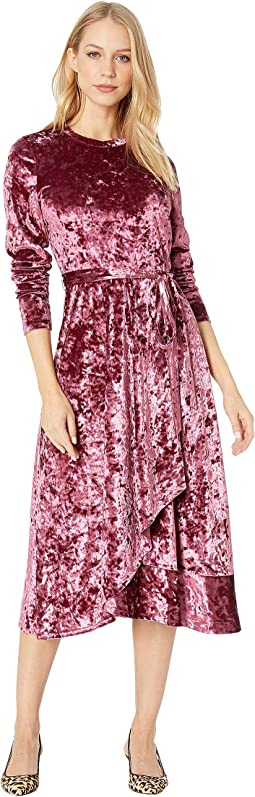 Crushed Velvet Midi Dress