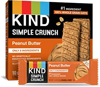 KIND Simple Crunch Bars, Peanut Butter, 1.4 Ounce (Pack of 40)