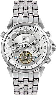 Andr Belfort - André Belfort 410015 - Reloj analógico de caballero automático con correa de acero inoxidable plateada - sumergible a 50 metros