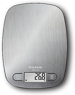 Taurus Easy Inox - Báscula de cocina digital de capacidad 5
