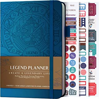 Legend Planner – Deluxe Weekly & Monthly Life Planner to Hit Your Goals &..