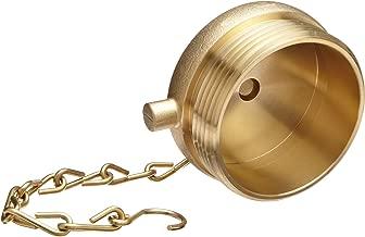 Moon 661-2521 Brass Fire Hose Fitting, Plug, 2-1/2