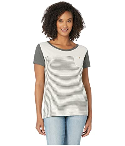 tentree Piney Tee (Natural White/Gargoyle) Women