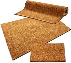 casa pura Coir Floor Matting 24mm, Natural - 80 x 100 cm | Coconut Fibre Entrance Mat - 12