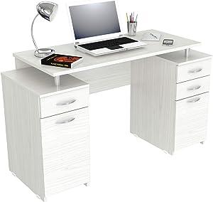 Inval Computer Desk, Washed Oak