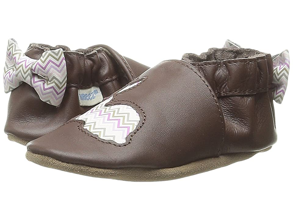 Robeez Hopping Haley Soft Sole (Infant/Toddler) (Brown) Girls Shoes
