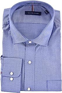 Tommy Hilfiger Men's Regular Fit Spread Collar Long...