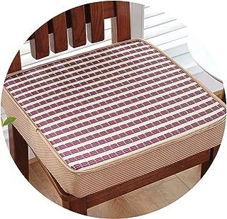 New Stripe Thicken Anti Slip Chair Cushion Floor Pad for Dining Chair Quality Seat Cushions Sofa Mat Summer Cool Chair Cushions,zisetiaowenbingsi,About 40x40cm