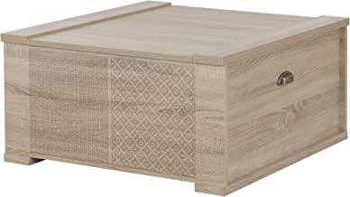 Diagone Louise Trunk Coffee Table, Sonoma Oak, 40H x 80W x 82D cm, 1E46008