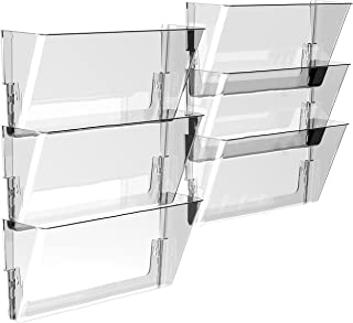 Storex Wall File, 16 x 4 x 7 Inches, Legal, Clear, Case of 6 (70207U06C)