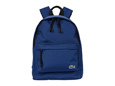 Lacoste Neocroc Small Backpack (White/Chlorophyll/Camouflage/Pollen/Navy Blue) Backpack Bags