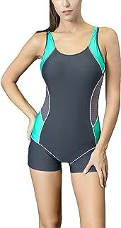Spring Fever Women Training One Piece Boyleg Swimsuit Raceback Athletic Swimwear Bikini
