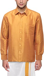 VARASIDDHI SILKS Men's Silk Casual Shirt